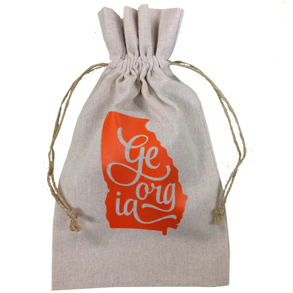 Georgia Burlap Gift Bag