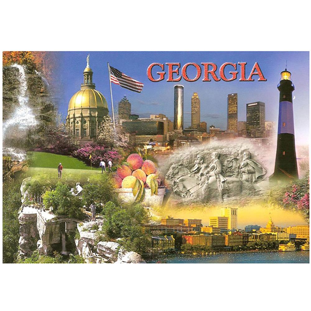 """Georgia Collage Souvenir Post Card (4"""" x 6"""")"""