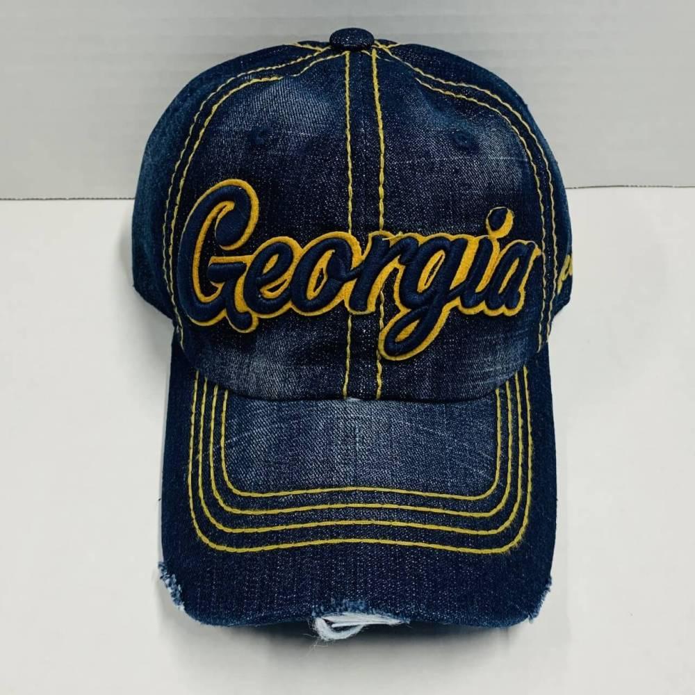 Georgia Denim Baseball Cap
