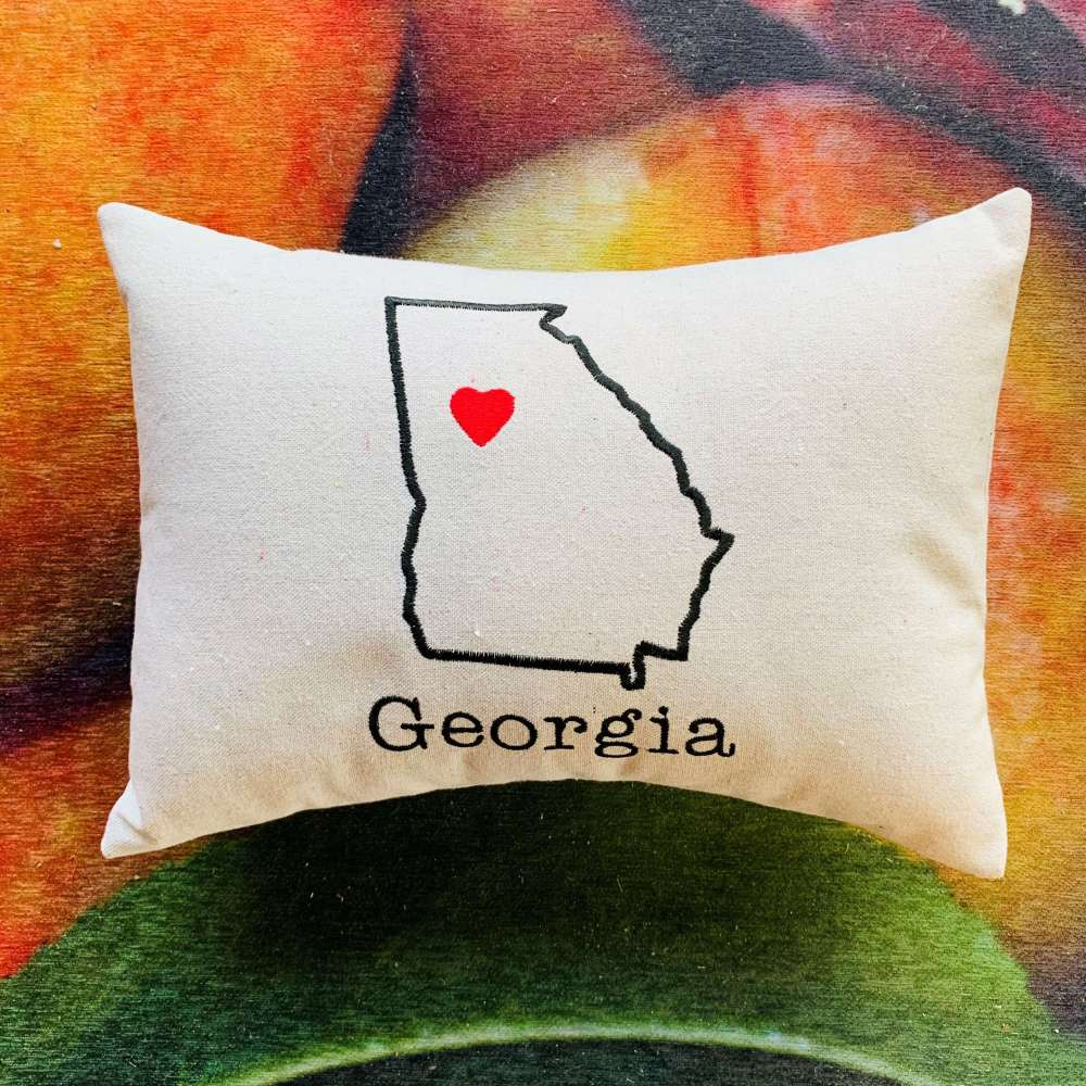 State of Georgia Pillow