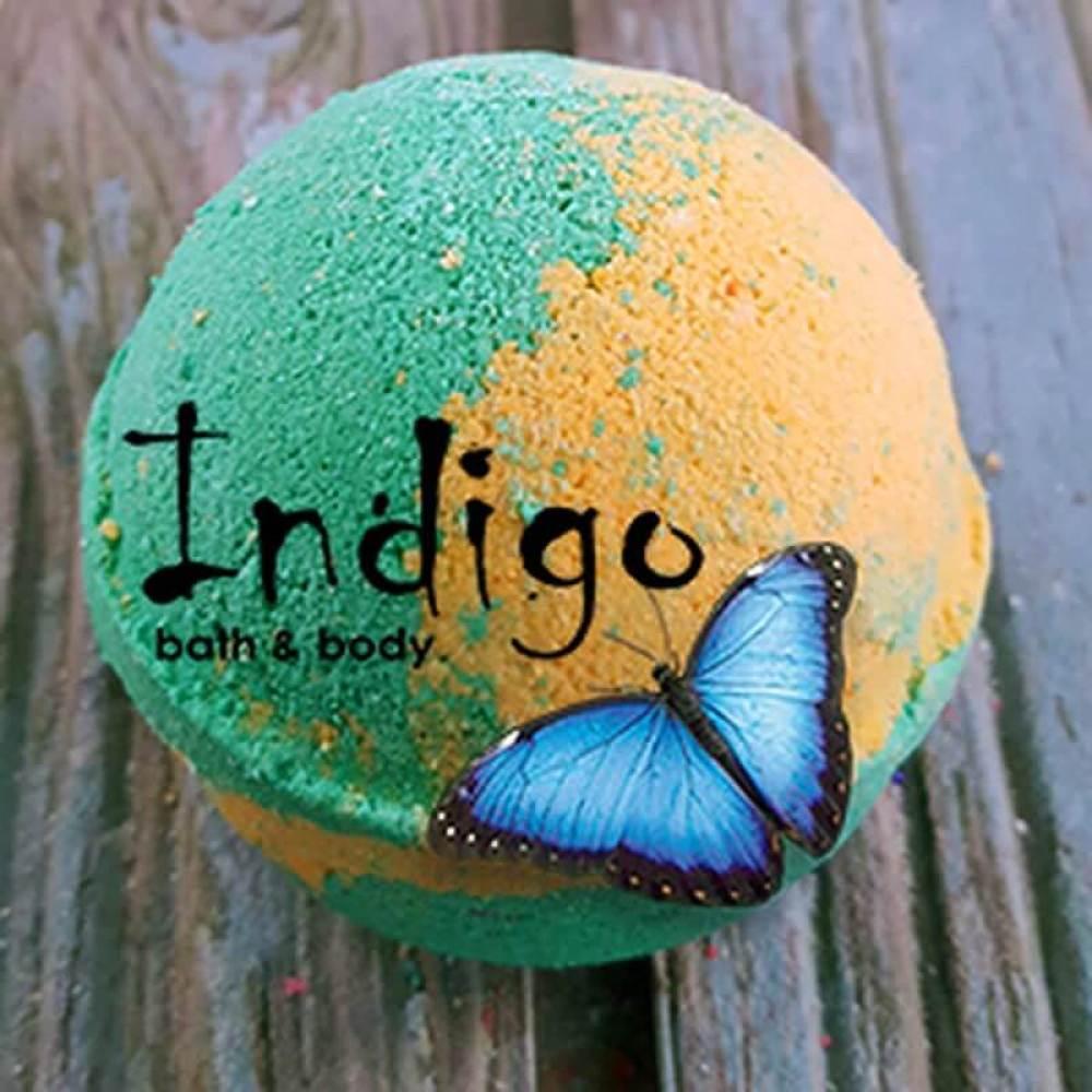 Indigo Tangerine Grapefruit Bath Bomb