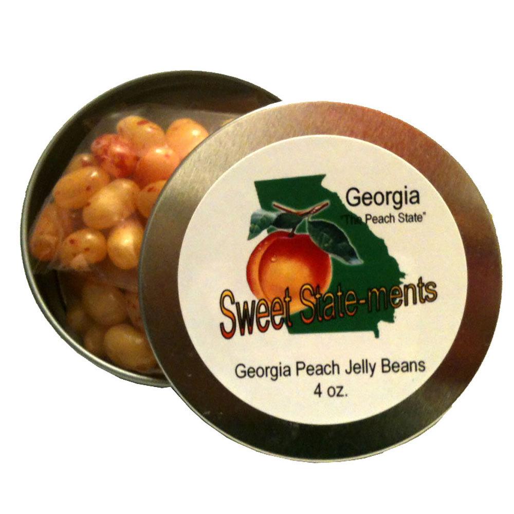 Georgia Peach Jelly Beans Tin