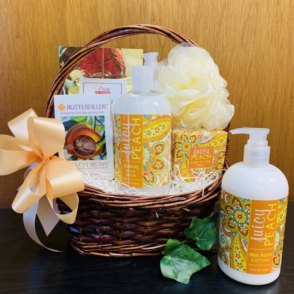 The Pampered Peach Gift Basket