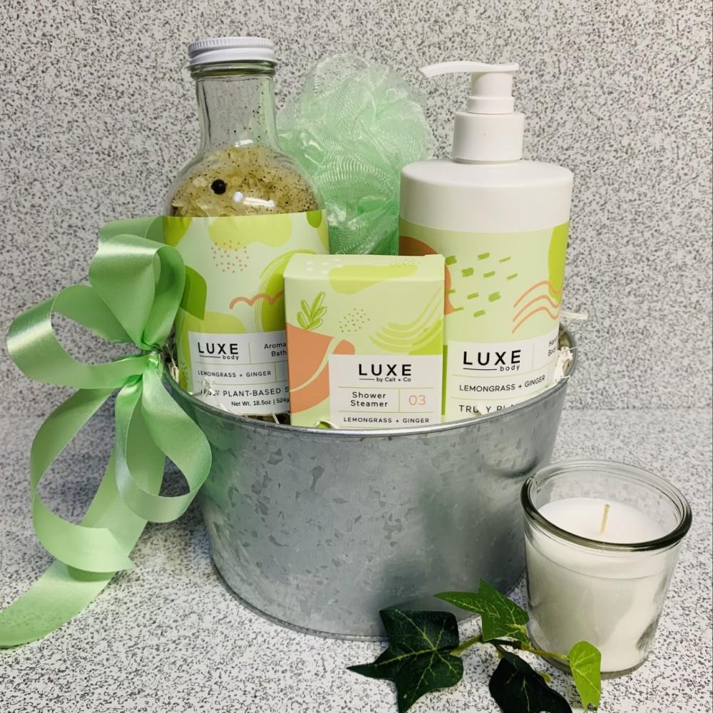 Luxe Lemongrass + Ginger Spa Gift Basket