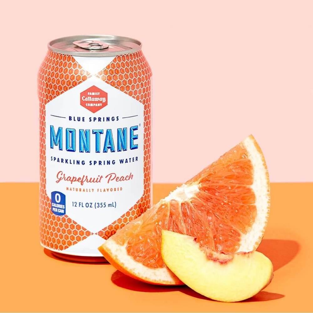 Montane Grapefruit Peach Sparkling Water
