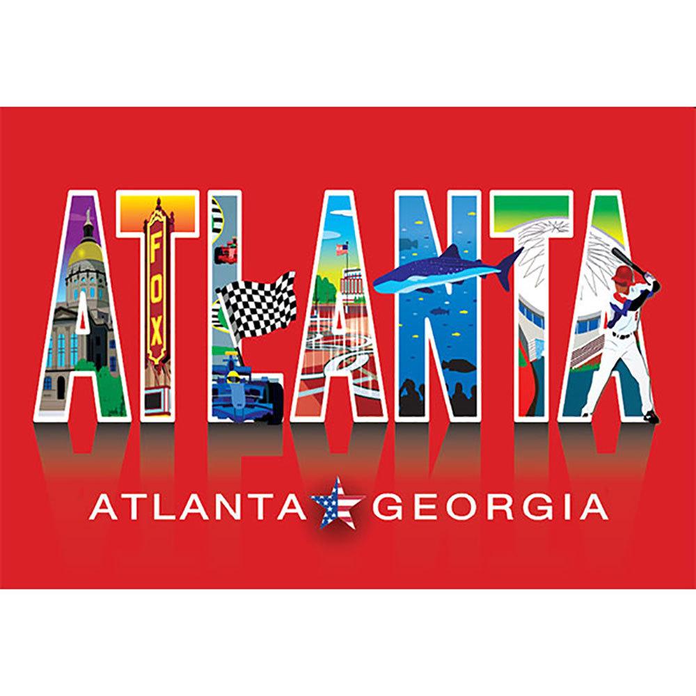 Atlanta Icons Post Card
