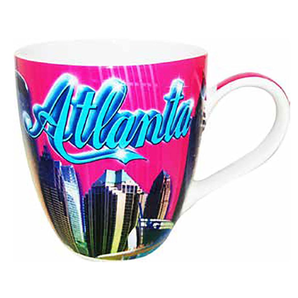 Pink Atlanta Skyline Mug