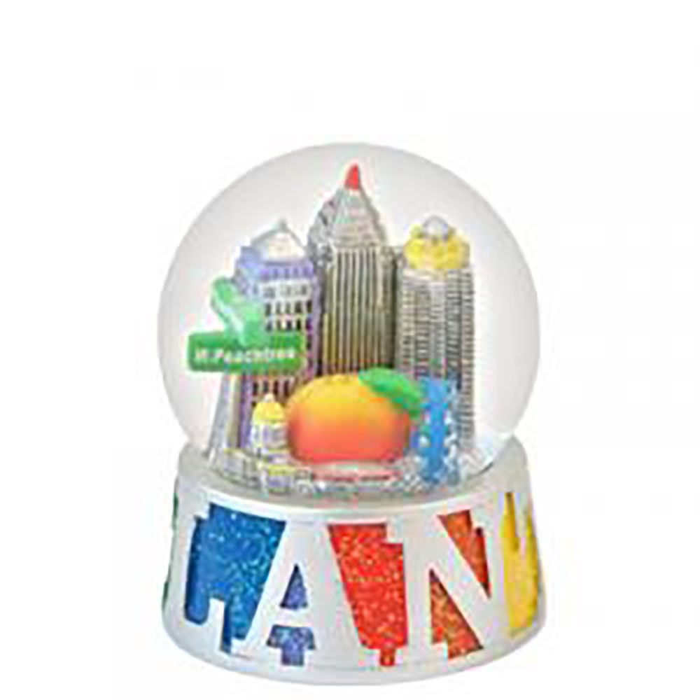 Atlanta Rainbow Snow Globe
