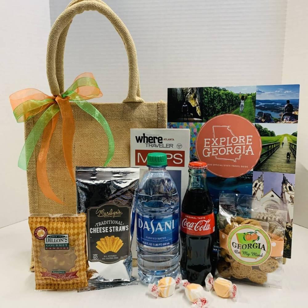Gourmet Georgia Burlap Welcome Bag