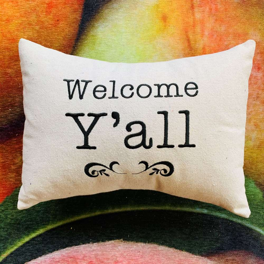 Welcome Y'all Pillow