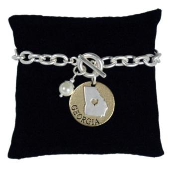 Georgia Charm Bracelet w/Pearl