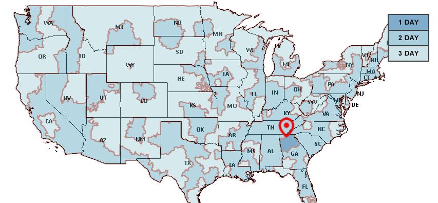 USPS Map