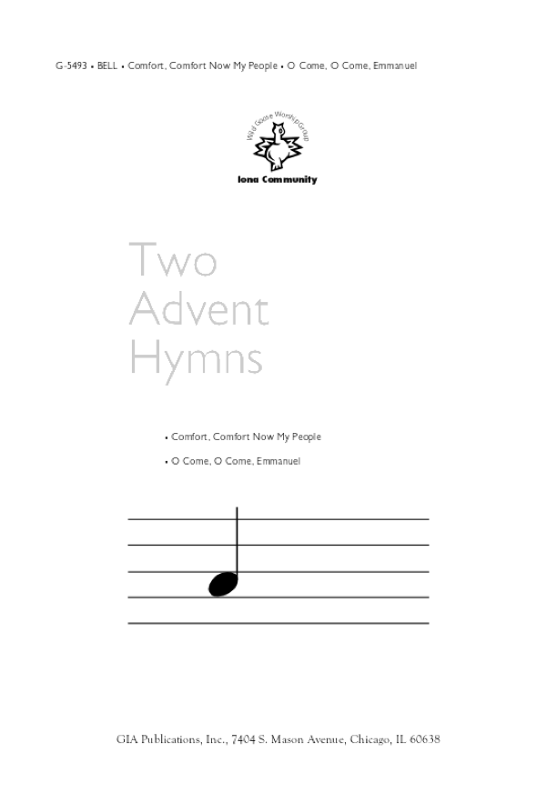 Gia Publications Two Advent Hymns