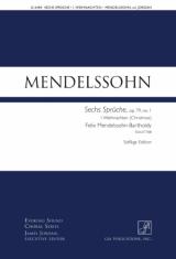 Sechs Sprüche, Op. 79: Weihnachten