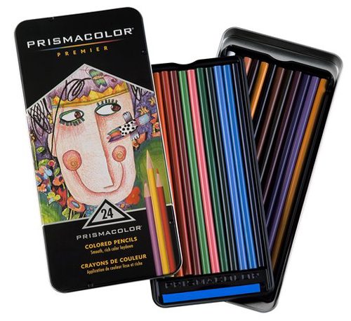 Prismacolor Thick Lead 24 Count Tin  Color Pencil Set