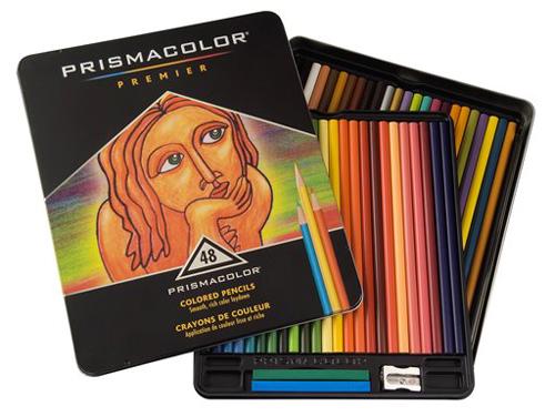 Prismacolor Thick Lead 48 Count Tin  Color Pencil Set