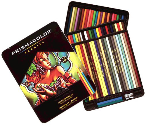 Prismacolor Thick Lead 72 Count Tin  Color Pencil Set