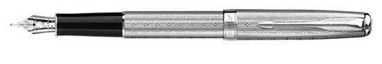 Parker Sonnet Premium Silver Lustre - Discontinued M Pt Fountain Pen