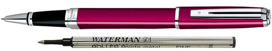 Waterman Exception Raspberry Slim ST With 1 Free Rollerball Refill  Rollerball Pen