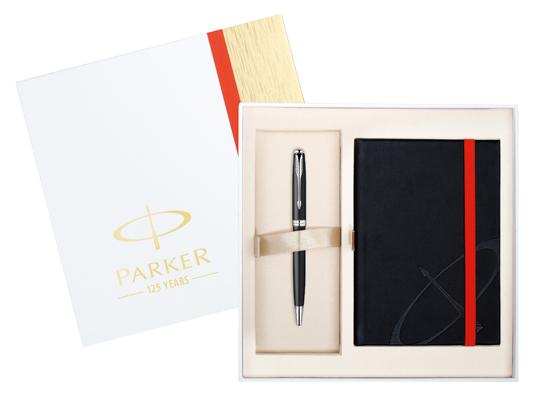 Parker Sonnet Original Matte Black CT Ballpoint w/ Notebook   Set