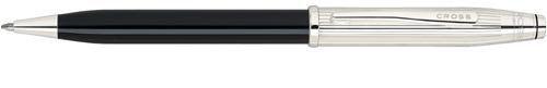 Cross Century II Sterling Sliver/Black Lacquer  Ballpoint Pen