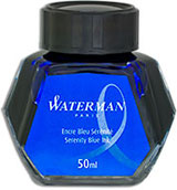 Waterman Refills Serenity Blue 50 ml   Bottled Ink