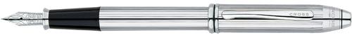Cross Townsend Lustrous Chrome w/ stainless steel nib Fine Point Fountain Pen
