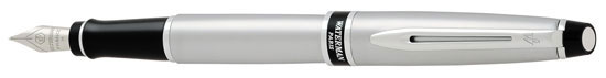 Waterman Expert Brushed Chrome Fine Point Fountain Pen
