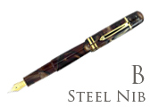 Bexley Poseidon Magnum II Bronze Sands Broad Point Fountain Pen
