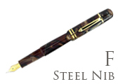 Bexley Poseidon Magnum II Bronze Sands Fine Point Fountain Pen