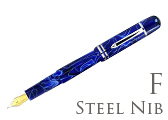 Bexley Poseidon Magnum II Blue Lagoon Fine Point Fountain Pen