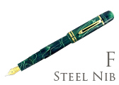 Bexley Poseidon Magnum II Green Seas Fine Point Fountain Pen