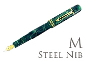 Bexley Poseidon Magnum II Green Seas Medium Point Fountain Pen