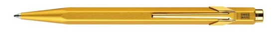 Caran D'ache Metal Collection 849 Goldbar  Ballpoint Pen