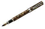Conklin Stylograph Mosaic Brown/Grey Bold Point Fountain Pen