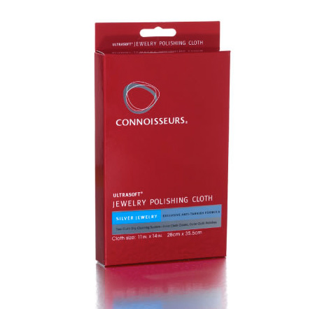 Connoissuers Silver & Metal Pen and Jewelry Polishing Cloth Cleaner
