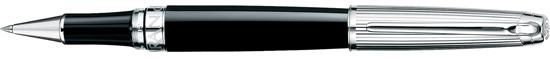 Caran D'ache Leman Bicolor Black silver plated/rhodium  Rollerball Pen