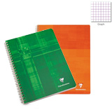 Clairefontaine Wirebound Graph Multiple Subject Notebook 8 1/4 x11 3/4