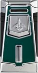 Colibri T-Series Empire Darmouth Green Lacquer/Chrome Lighter
