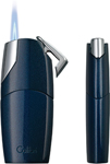 Colibri D-Series Rio Metallic Midnight Blue / Polished Chrome  Lighter