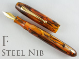 Edison Collier Antique Marble Steel Nib Fine Point Fountain Pen