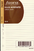 Filofax Papers Ruled Notepaper, Cotton Cream  Pocket Size