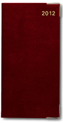Letts of London Classic Burgundy Week to View Upright Slim Size  Planner