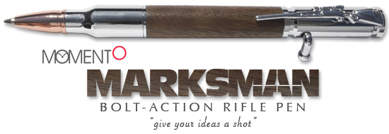 Momento Marksman Walnut Bolt-Action Rifle  Ballpoint Pen