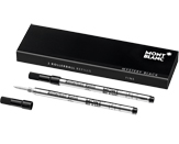 Montblanc Refills Black 2 Pack Medium Point Rollerball Pen