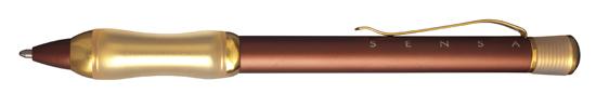 Sensa Designer Chocolate and Gold  Ballpoint Pen