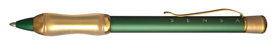 Sensa Designer Green and Gold  Ballpoint Pen
