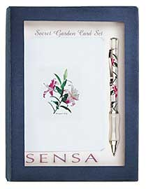 Sensa Card Set Crystal Lily  Ballpoint Pen