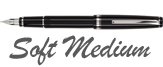 Namiki Falcon Black/Rhodium Trim Soft Flexible Nib Medium Point Fountain Pen