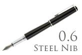 Nemosine Fission Jet Black 0.6mm Stub Nib  Fountain Pen